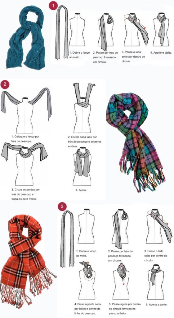 como amarrar cachecol