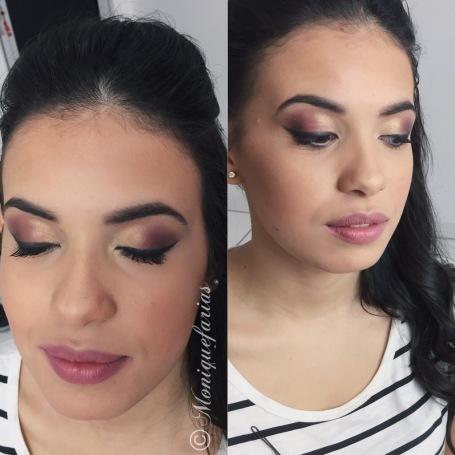 Maquiagem marrom esfumado